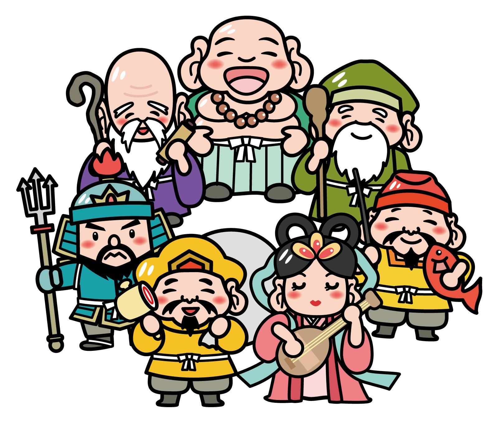 七福神メンバー7人イラスト