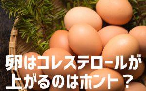 卵でコレステロールは上がる?