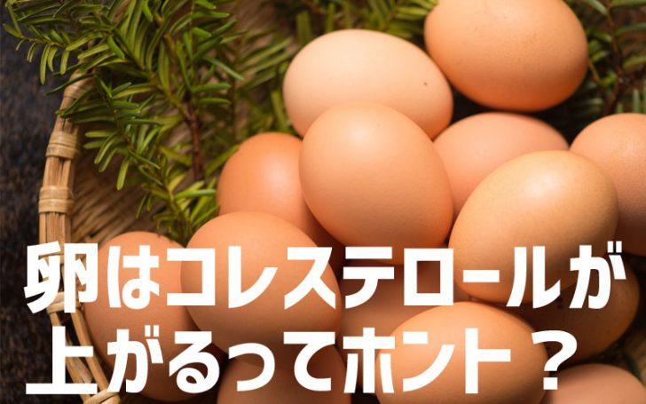 卵はコレステロールが上がる?