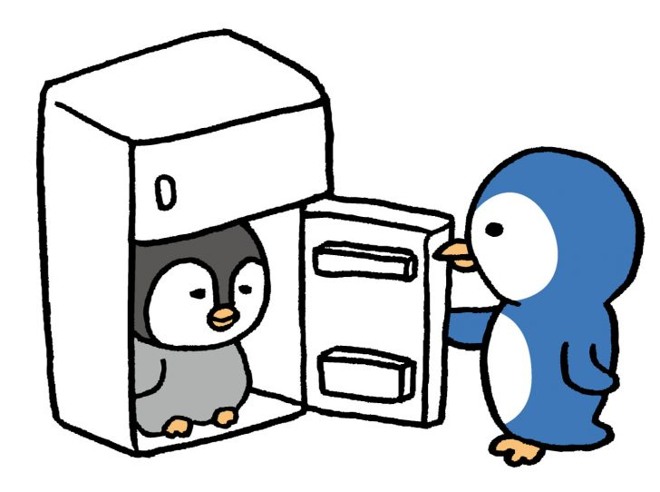 ペンギンと冷蔵庫